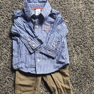 2 piece carter's 6 months button up and pants